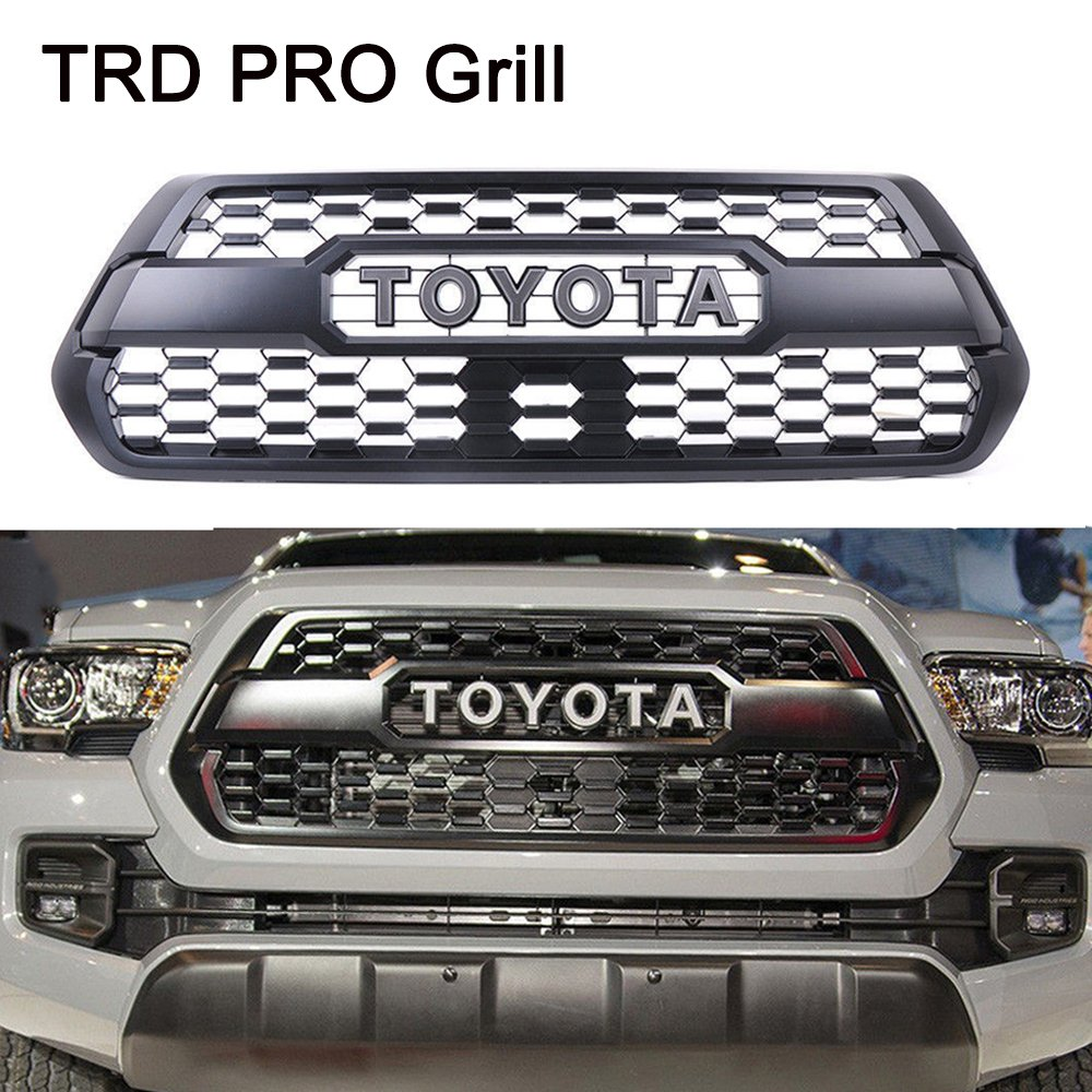 Vakabva Toyota Tacoma TRD PRO Grill Grille Fits 2016 2017 2018 PT228-35170 Front Bumper Hood Grille Grill