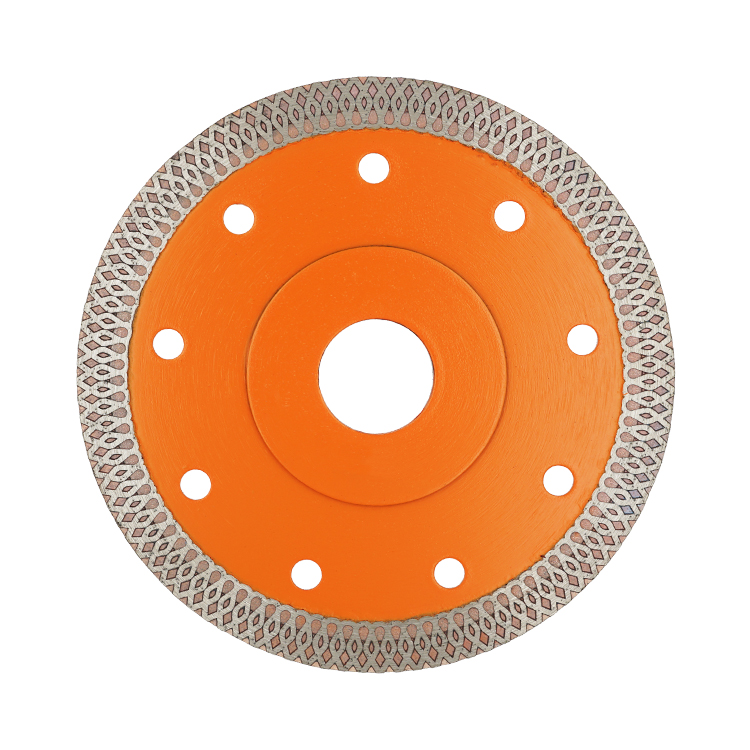 Hot Press Gesinterd Turbo-mesh Blade Versterkte Body Diamond Saw Cut Blades voor Tegel Porselein Glas Graniet Marmer Snijden