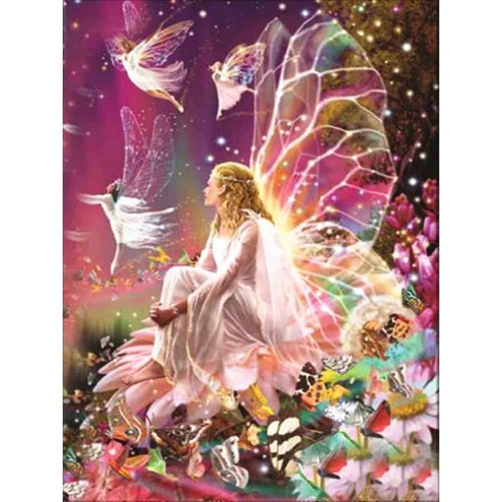Fairylove 30×40 Diamond Painting Full Diamond Paint with Diamonds Dotz Kit Cross Stitch Kits Arts Craft, Fairy