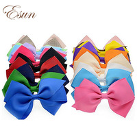 "Mixed colors 4"" no fraying ends loose strings ribbon hair bow"
