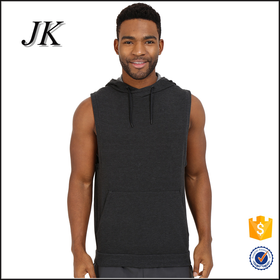 China manufacturer custom men pullover hoodie men's sleeveless hoodie for gym