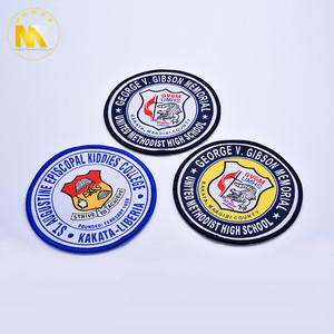 Custom OEM ODM high quality fashion letters badge 3d puff embroidery patch