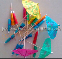 colored custom cocktail promotional umbrella toothpicks