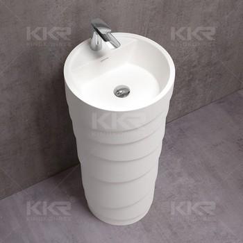 with fujian shape pedestal basin sink cone pede stone