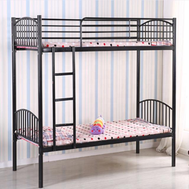 침실 가구 기숙사 금속 프레임 군사 침대 철 기숙사 이층 침대 성인 더블 금속 캐비닛 침대