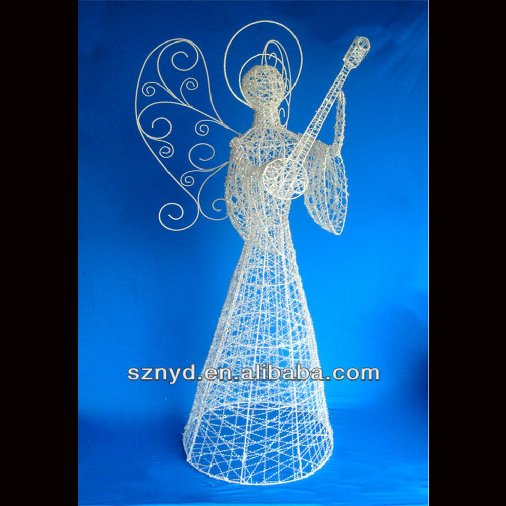 2015 christmas 3d wall decoration led christmas angel with for Angel outdoor decoration
