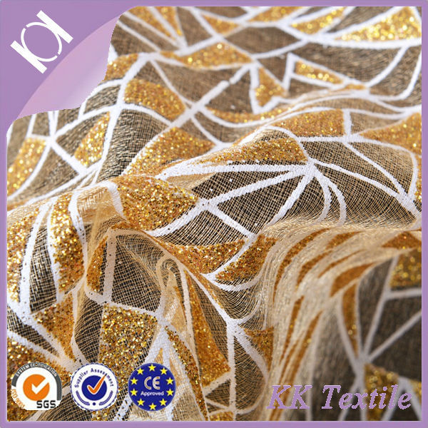 latest african triangle gold embroidery swiss lace