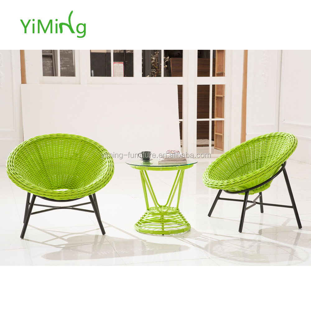 Surprising Popular Green Round Rattan Outdoor Coffee Chair And Table Set Synthetic Wicker Patio Furniture Buy Round Rattan Outdoor Coffee Chair And Download Free Architecture Designs Photstoregrimeyleaguecom