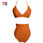 Two Piece Mature Woman Bandage Swimwear Lingerie Sexy Bikini