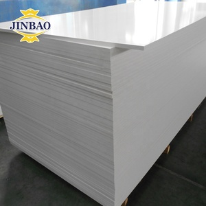 JINBAO high density rigid white/black 3mm 10mm18mm extrude PVC plastic foam sheet