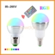 16 Color Changing E27 E14 LED RGB Bulb 3W With IR Remote Controller CE RoHS