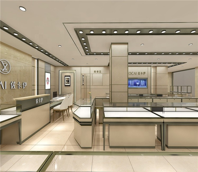 Modern retail decorations for jewelry store