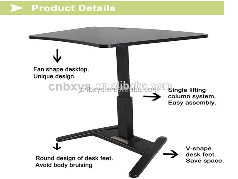 oneleg electric height adjustable corner office desk with memory function