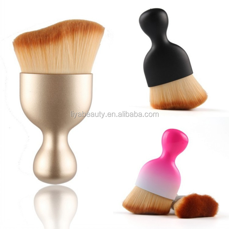 Luxury Wave Shape Chroming Rose Gold Face Makeup Contour Brush