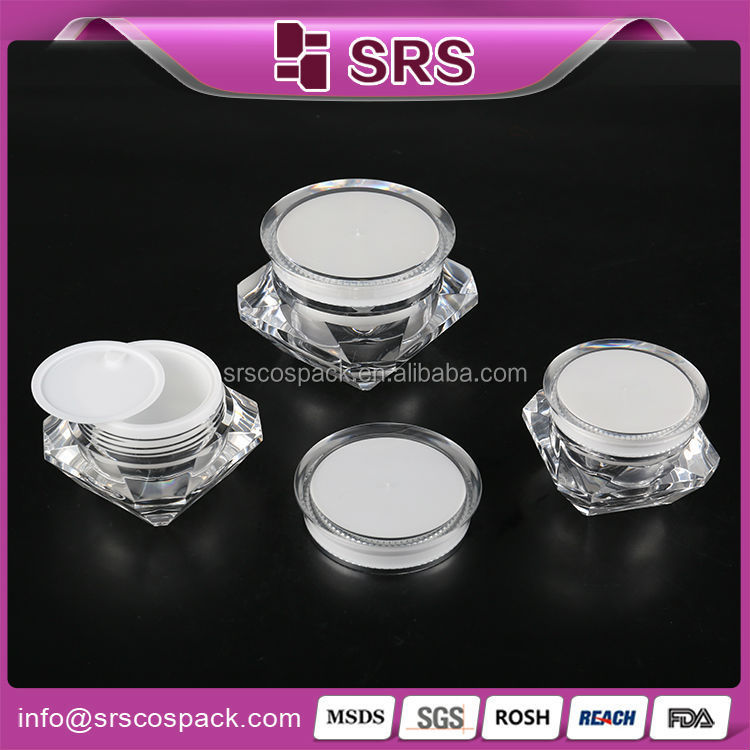 Eco Friendly Cosmetic Containers 15g 30g 50g And Unique Diamond ...