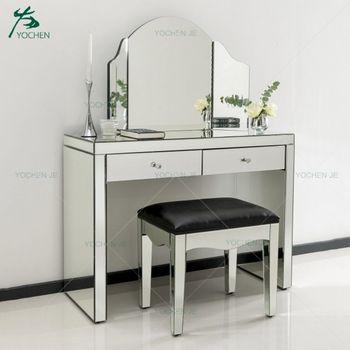 Bedroom Vanity Dressing Table Furniture Makeup Dresser With Mirror