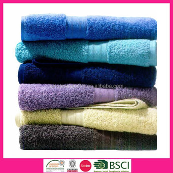 100 Combed Cotton Solid Color Dobby Border Bath Towels Buy