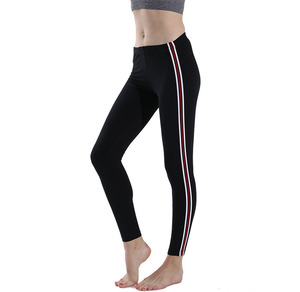 Women Fashion Super Soft Comfortable High Elastic Fitness Leggings Power Flex Strips Pencil Pants