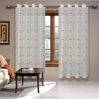 Competitive Price Elegant Embroidered Sheer Curtains 2 Panels Sets,Sheer Curtains High Quality