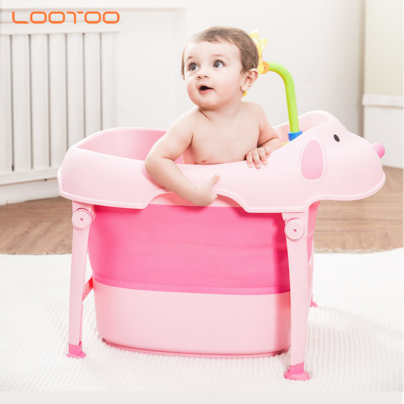 2019 product travel portable collapsible foldable pp plastic thermometer bathtub set baneras de bebe baby bath tub for newborn