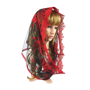 Embroidery Infinity Lace Veil ,Lace Catholic Veil ,Hijab Chapel Scarf Lady Church Head Covering