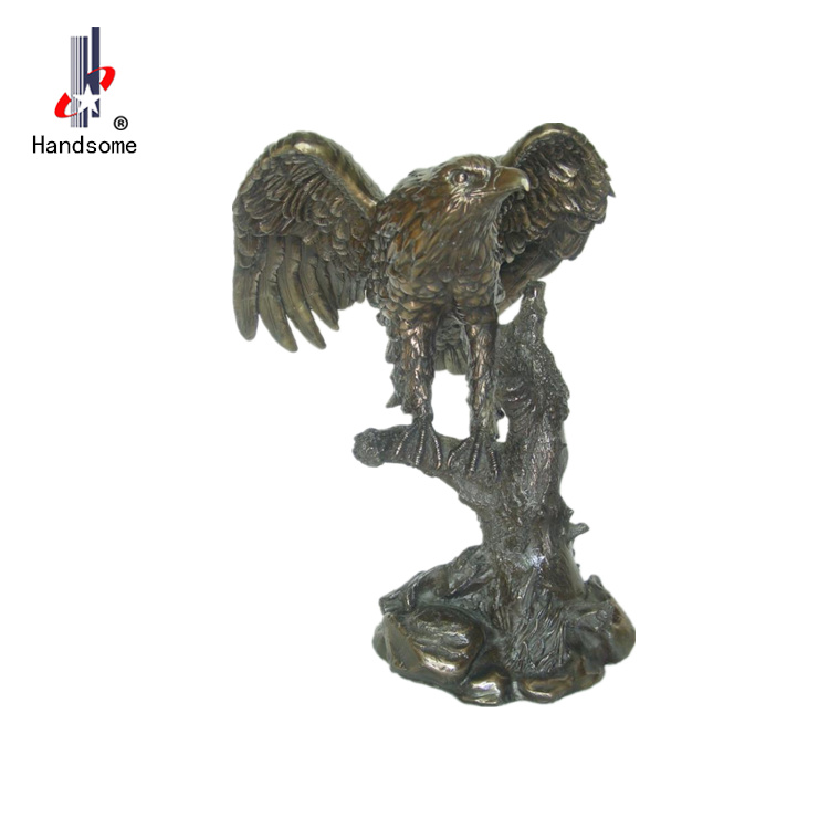 copper resin eagle statue