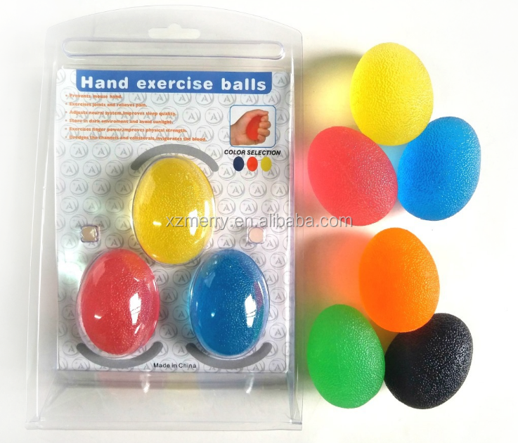 Squeeze Stress Balls for Hand Finger and Grip Strengthening-Set of 3 Resistance (Soft+ Medium+ Firm)