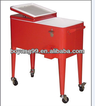 outdoor rolling cooler bar