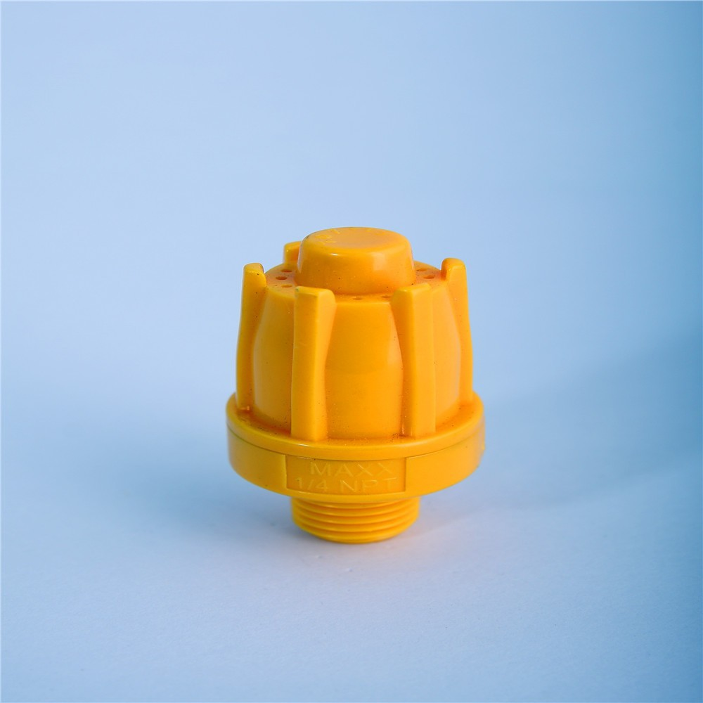 """Nouveau ABS air buse de ventilateur d/'air Air couteau Vent 1//4/"""" BSPT F Type 1 trous jaune"""