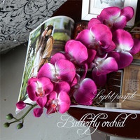 In Stock Newly Design Wholesale 9 Heads Artificial Orchid Flower