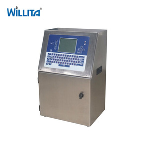 Willita Automatic Real Time Batch Inkjet Print Bottle Expiry Date Code  Printing Machine