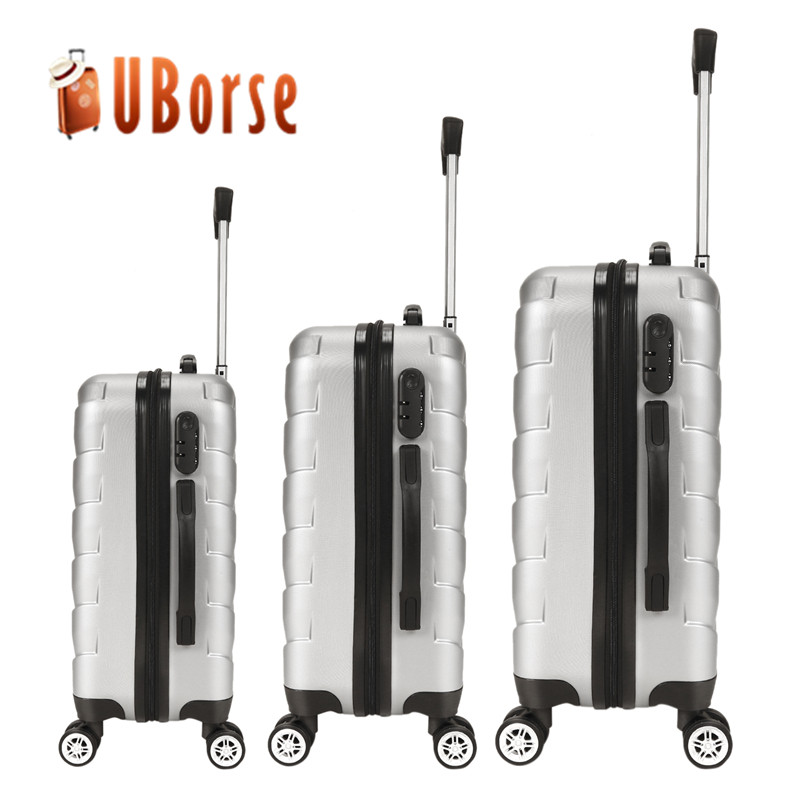 ABS 3 pieces Set Trolley Bags Travelling Spinner suitcase Hard Shell luggage set