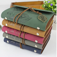 Vintage traveler's notebook travel journal diary note book leather cover A7 A6 ring binder kraft paper blank sketchbook