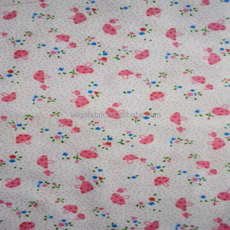 100% cotton Flannelette Brushed Fabric