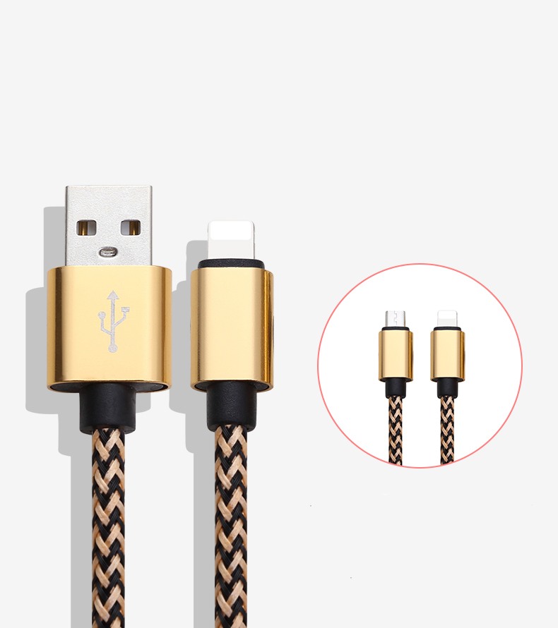 Hot Selling Thread Shaped Micro Usb Cable For Phone