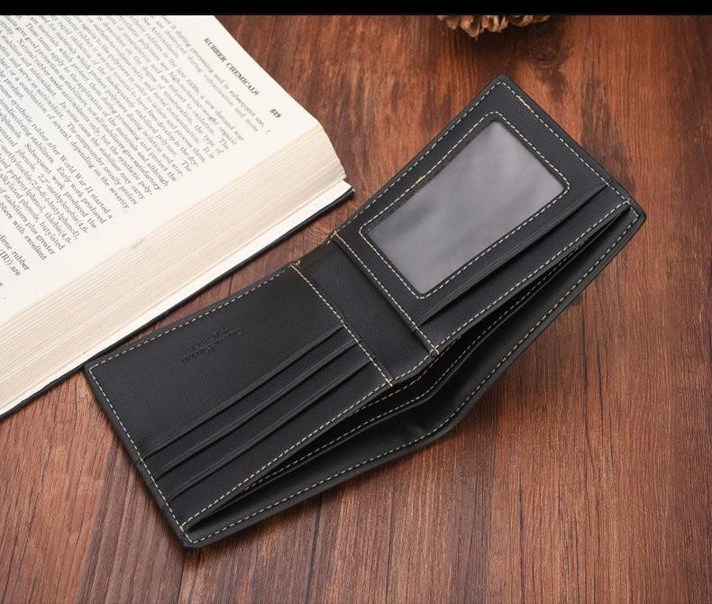 1deee8e0fcff Customized MEN wallet tri fold Wallet curewekerien wallet mens with ID  window