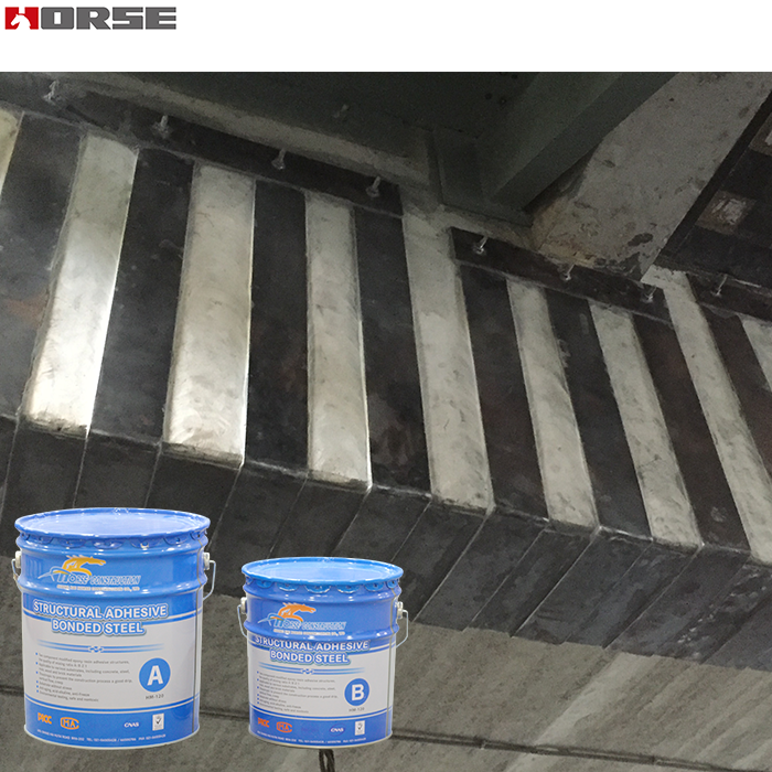 HM-120 adhesive bonding of steel plate to concrete,steel bonding adhesive