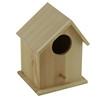 Polished natural color bird house wood