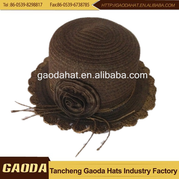China wholesale market agents little girls straw hats paper hat