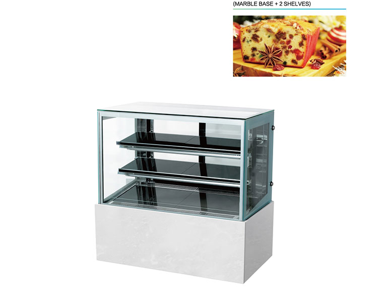 Factory Directly Sell Bakery Display Glass Cabinet Flat Glass Showcase