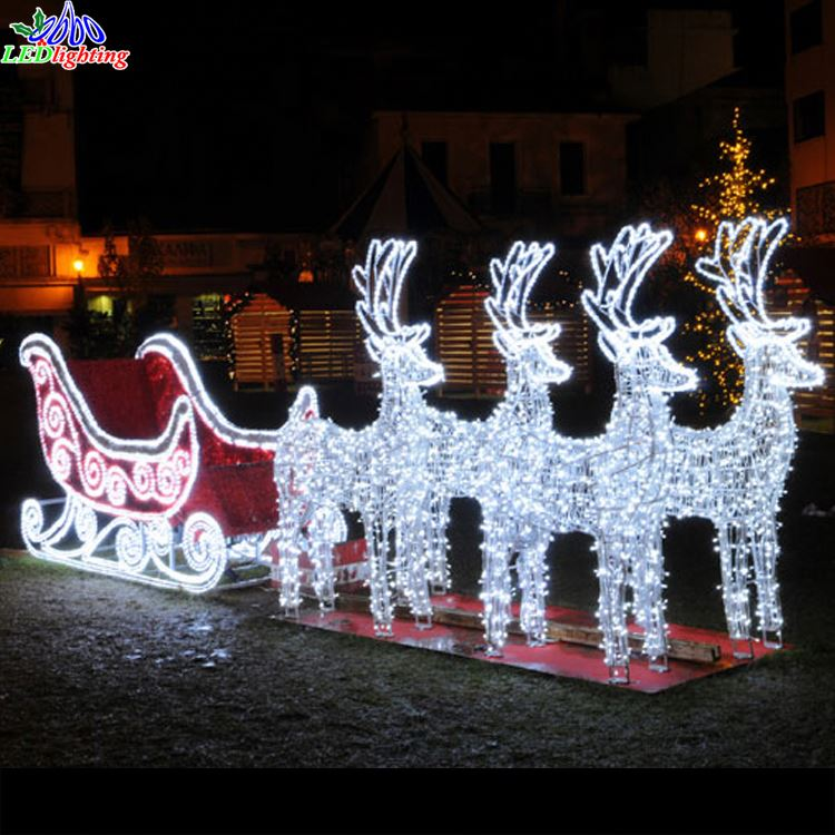 Large Outdoor Santa Sleigh Suppliers Manufacturers Alibaba Reindeer Lights