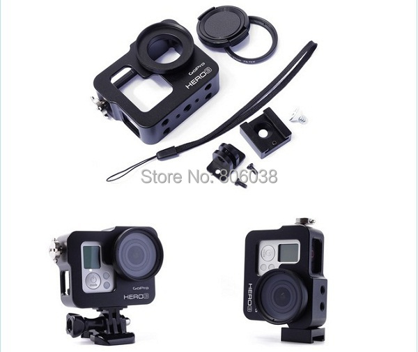 Black Aluminium Alloy Rig Housing Protective Case Frame With 37mm UV Filter For