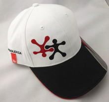 Multi color red grey trimming sports baseball cap design logo print on sweatband baseball cap