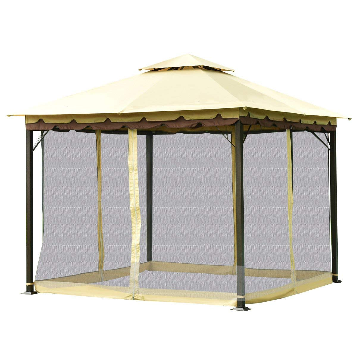 Get Quotations · KCHEX>> 2-Tier 10'x10' Gazebo Canopy Tent Shelter Awning  Steel - Cheap Yard Gazebo Tent, Find Yard Gazebo Tent Deals On Line At
