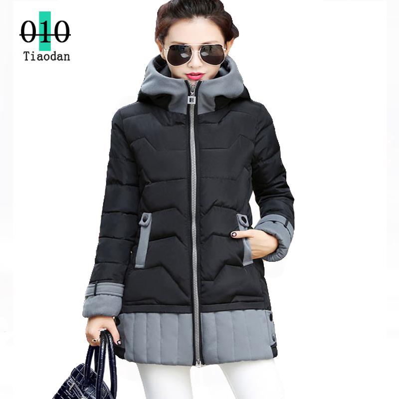 Plue размер 2015 новых зимняя куртка женщины корейских ярдов толстые , дополненные пуховик женских секций длиной парки