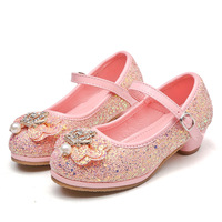 Factory Price Korean Version Small High Heel Girl Children's Dress New Baby Performance Princess Shoes