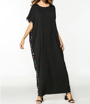 Simple Plus Size Casual Latest Net Dress Designs T Shirt Full Long Black  Dress - Buy Long Black Dress,T Shirt Dress,Latest Net Dress Designs Product  ...