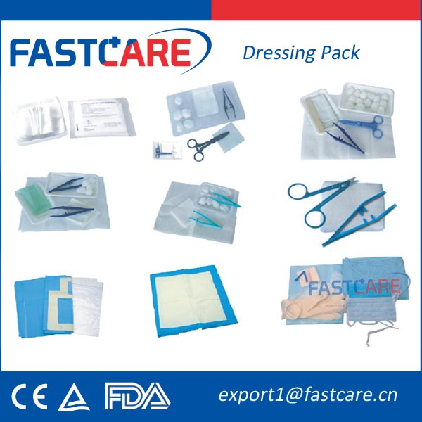 CE Approval Sterile Disposable Medical Dressing Pack