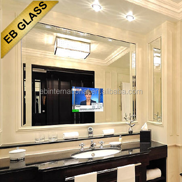 bathroom tv mirror, magic mirror glass for liviing room, hotel