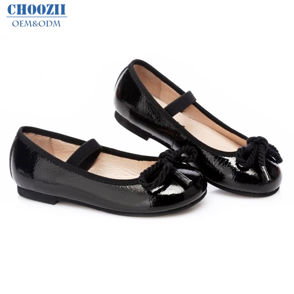 Choozii Comfortable Shiny Black Patent Leather Kids Girls Party